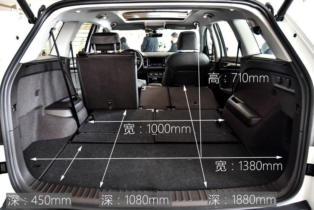 Размеры багажника 7-местной модификации Skoda Kodiaq